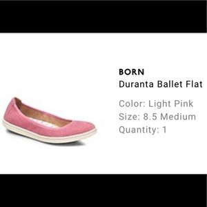 Born Pink Duranta Ballet Flat, Size 8.5 💗